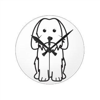 Petit Basset Griffon Vendeen Dog Cartoon Clocks