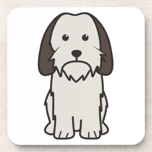 Petit Basset Griffon Vendeen Dog Cartoon Beverage Coaster