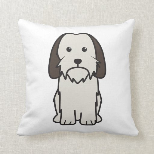Petit Basset Griffon Vendeen Dog Cartoon Pillow