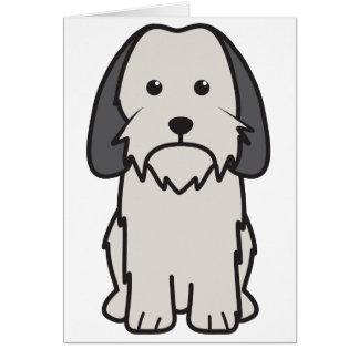 Petit Basset Griffon Vendeen Dog Cartoon Greeting Card