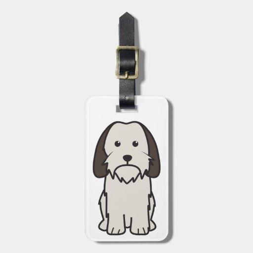 Petit Basset Griffon Vendeen Dog Cartoon Luggage Tags
