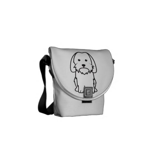 Petit Basset Griffon Vendeen Dog Cartoon Messenger Bags