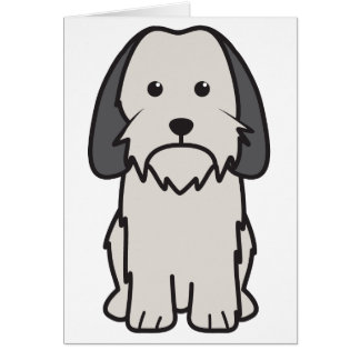 Petit Basset Griffon Vendeen Dog Cartoon Note Card