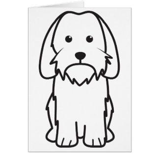 Petit Basset Griffon Vendeen Dog Cartoon Note Card