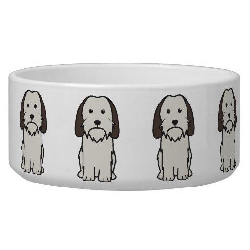Petit Basset Griffon Vendeen Dog Cartoon Dog Food Bowls