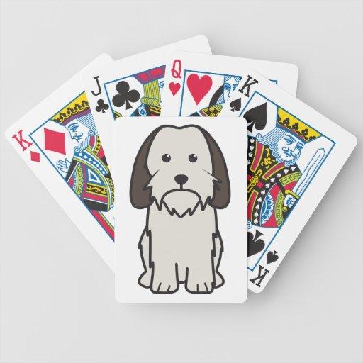 Petit Basset Griffon Vendeen Dog Cartoon Bicycle Card Decks