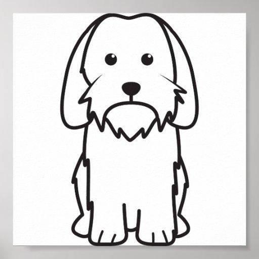 Petit Basset Griffon Vendeen Dog Cartoon Poster