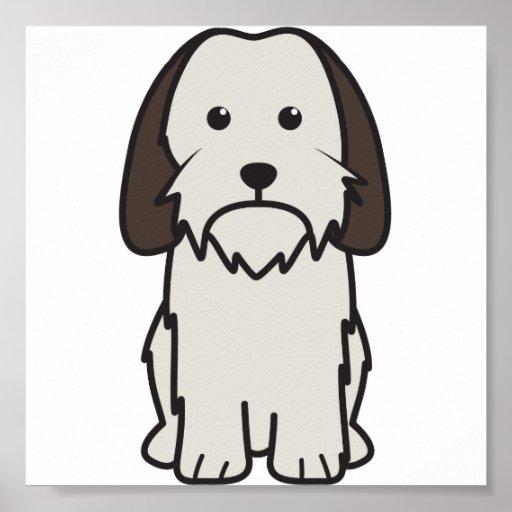 Petit Basset Griffon Vendeen Dog Cartoon Posters