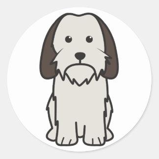 Petit Basset Griffon Vendeen Dog Cartoon Round Sticker