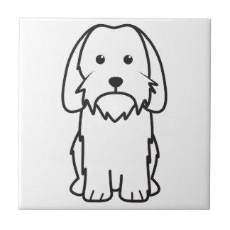 Petit Basset Griffon Vendeen Dog Cartoon Ceramic Tiles
