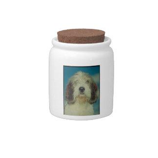 Petit Basset Griffon Vendeen Dog Treat Candy Jar