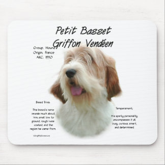 Petit Basset Griffon Vendeen History Design Mouse Pad