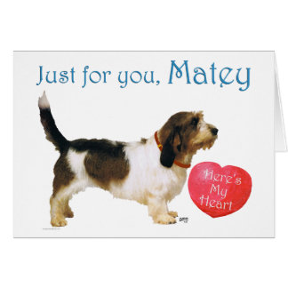 Petit Basset Griffon Vendeen LOVE Greeting Card