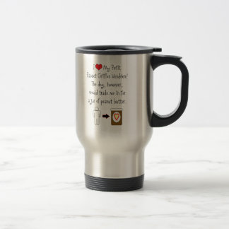 Petit Basset Griffon Vendéen Loves Peanut Butter 15 Oz Stainless Steel Travel Mug