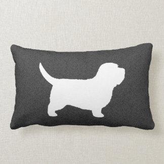 Petit Basset Griffon Vendeen PBGV Silhouette Throw Pillow