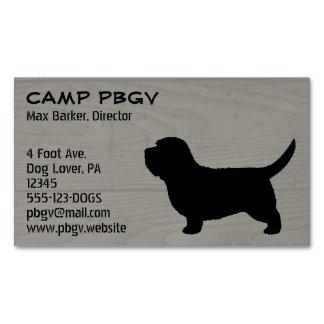 Petit Basset Griffon Vendeen PBGV Silhouette Magnetic Business Cards