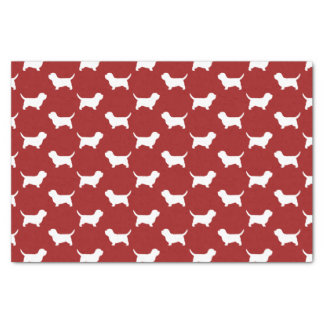 Petit Basset Griffon Vendeen PBGV Silhouettes Red Tissue Paper