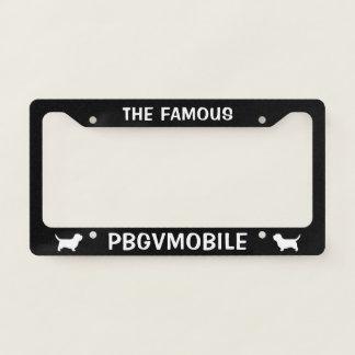 Petit Basset Griffon Vendeen PBGVmobile Custom Licence Plate Frame