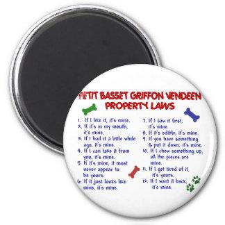 PETIT BASSET GRIFFON VENDEEN Property Laws 2 6 Cm Round Magnet