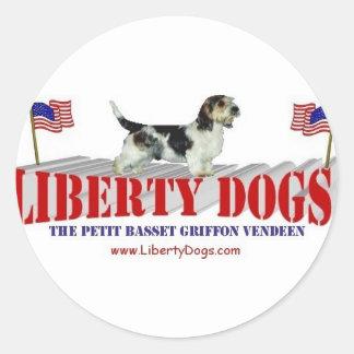 Petit Basset Griffon Vendeen Round Sticker
