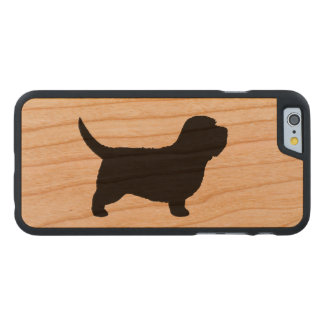 Petit Basset Griffon Vendeen Silhouette Carved® Cherry iPhone 6 Case