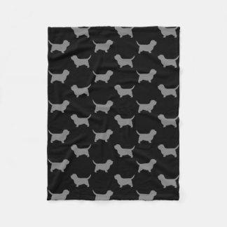 Petit Basset Griffon Vendeen Silhouettes Pattern Fleece Blanket