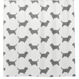 Petit Basset Griffon Vendeen Silhouettes Pattern Shower Curtain