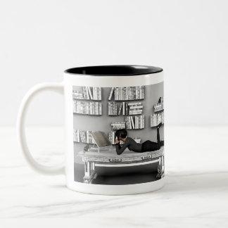 Petit rat de bibliothèque Two-Tone coffee mug