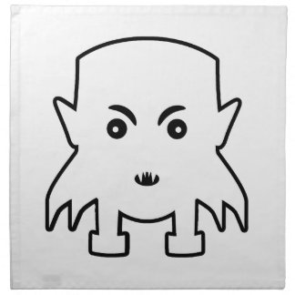 Petit Vampire Cartoon Illustration Napkin