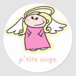 Petite Ange (little angel in French) Round Sticker