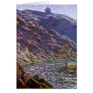 Petite Creuse, Sunlight by Claude Monet Card