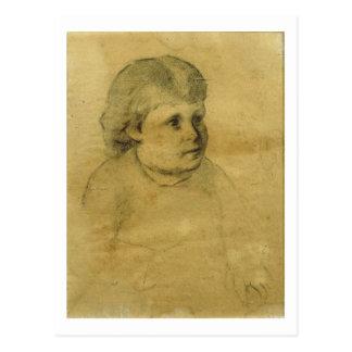 Petite fille (charcoal) postcard