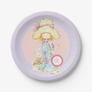 """Petite Fleur"" Party Paper Plate 7"" Lilac 7 Inch Paper Plate"