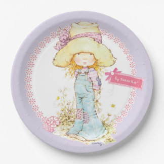 """Petite Fleur"" Party Paper Plate 9"" Lilac 9 Inch Paper Plate"