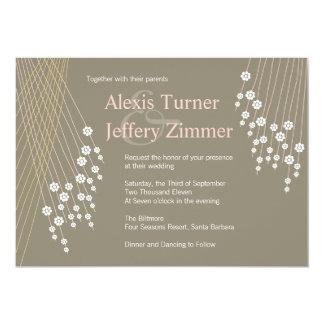 Petite Flowers Wedding Invitation