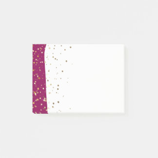 Petite Golden Stars Wave Post-it-Notes-Raspberry Post-it Notes