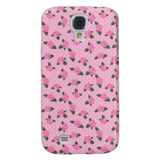 Petite pink roses and polka dots iphone skin samsung galaxy s4 cases