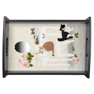 "PetitRose ""Kittens Beauty Salon"" Serving Platters"