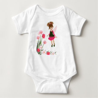 "PetitRose ""Little Flower Fairy"" , Baby Bodysuit"