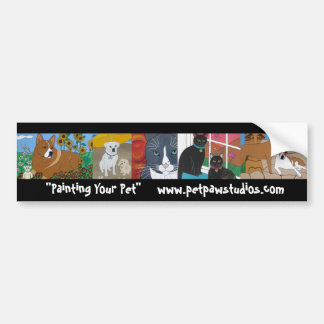 PetPaw Studios Commission Painting Bumper Sticker