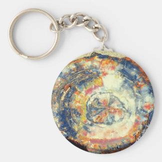 Petrified wood key ring