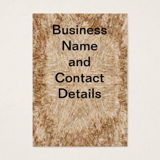 Petrified wood mandala business card
