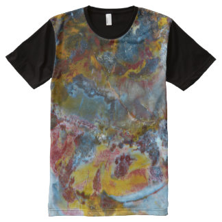 Petrified wood texture fossil stone pattern All-Over print T-Shirt