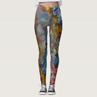 Petrified wood texture leggings