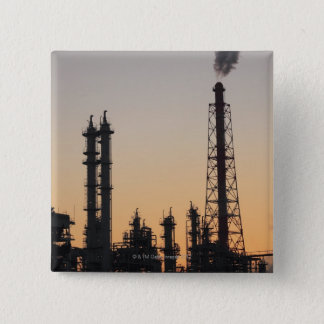 Petrochemical Plant 15 Cm Square Badge