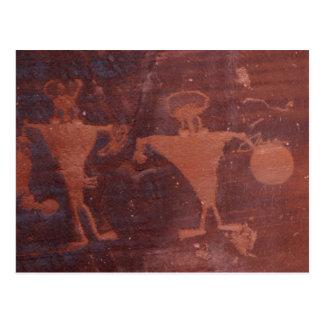 Petroglyph in Moab, Utah Postcard