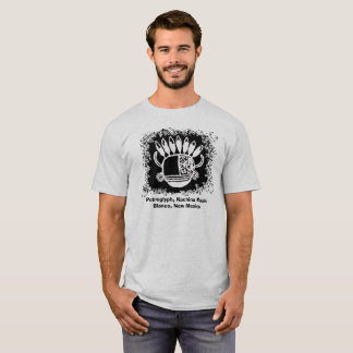 Petroglyph, mask with horns and eagle feathers T-Shirt