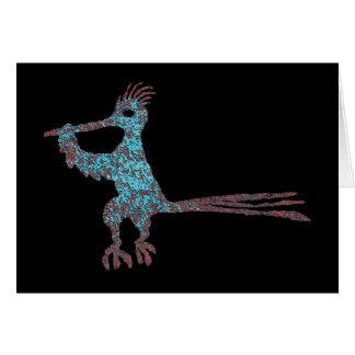 Petroglyph, New Mexico Road Runner Card