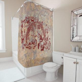 Petroglyph Panel - Rochester Creek, Utah Shower Curtain
