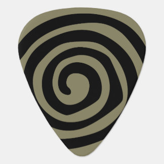 Petroglyph spiral tribal music guitar pick